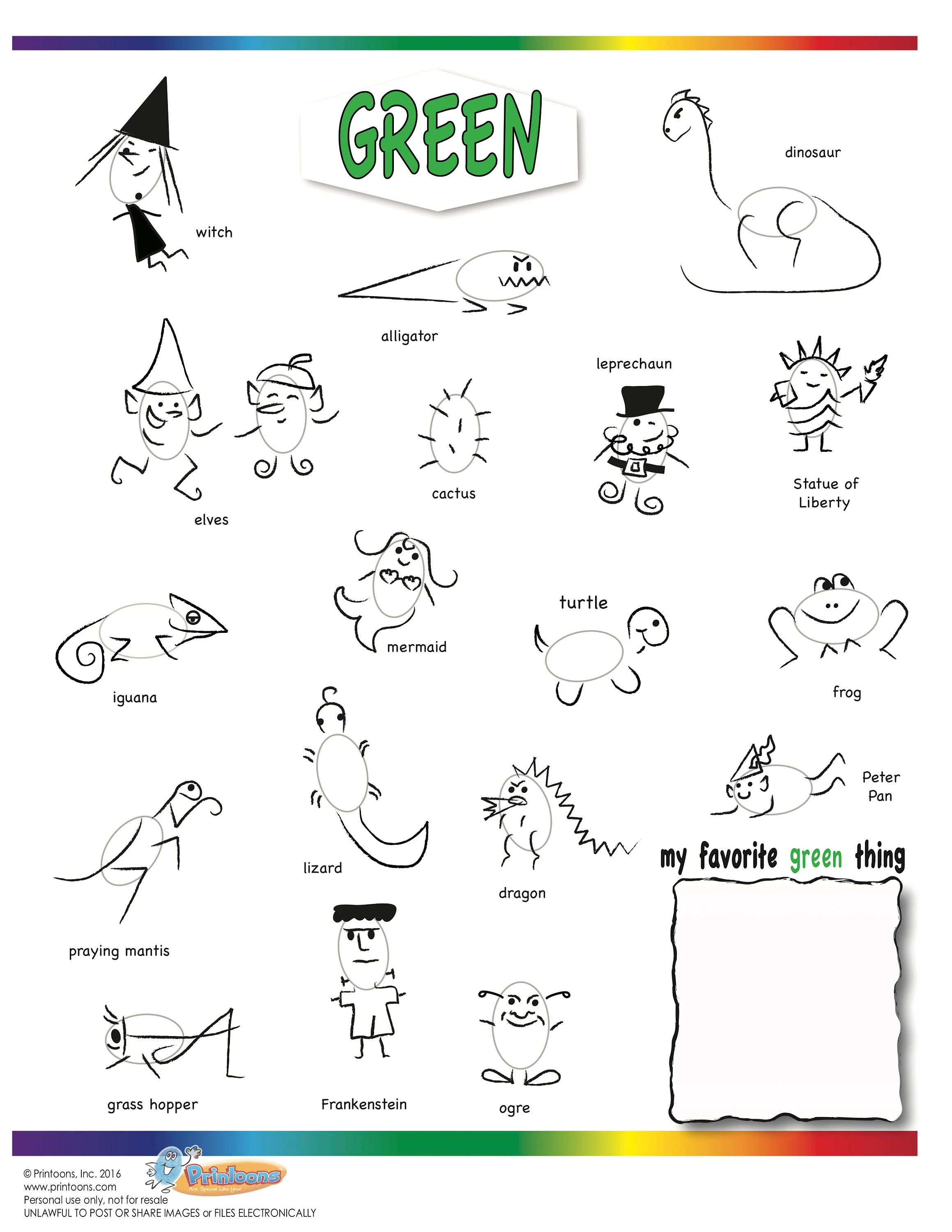 Colors Learning Thumbprint Art Color Worksheets