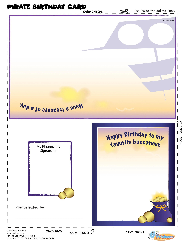 Pirate Thumbprint Art Cards Pirate Worksheets Pirate