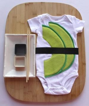 Avocado Baby Sushi Costume
