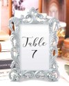 Silver Picture Frames Size 4 X 6 Baroque Table Number Etsy