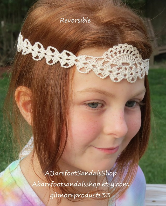 crochet girl head band piece lace filigree design hair accessories girl hairpiece for wedding dress up accessory for hair.1pc