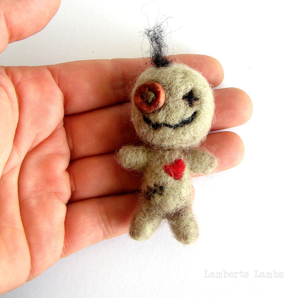 PDF Needle felting tutorial Voodoo Doll Halloween Felt image 5