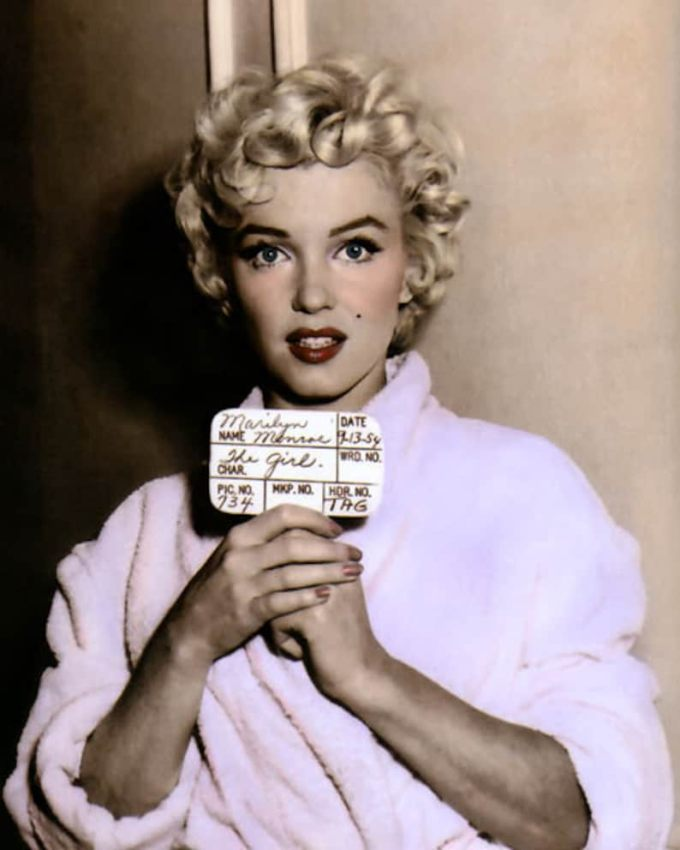 "marilyn monroe the seven year itch 1955 hollywood movie star actress 8x10"" hand color tinted photograph"