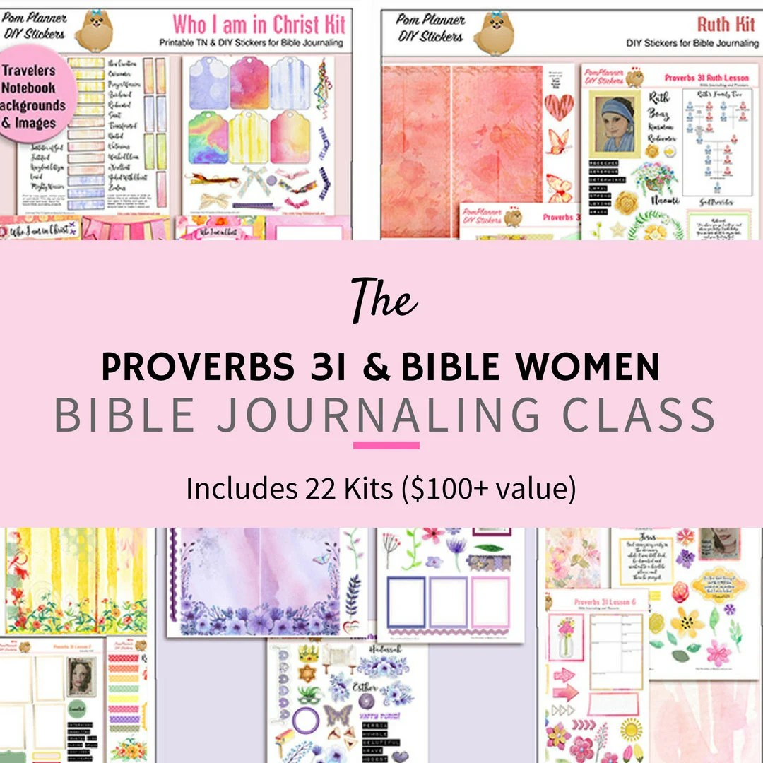 Proverbs 31 Bible Journaling Class With Travelers Notebook