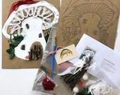 Mushroom House Mini Art Kit