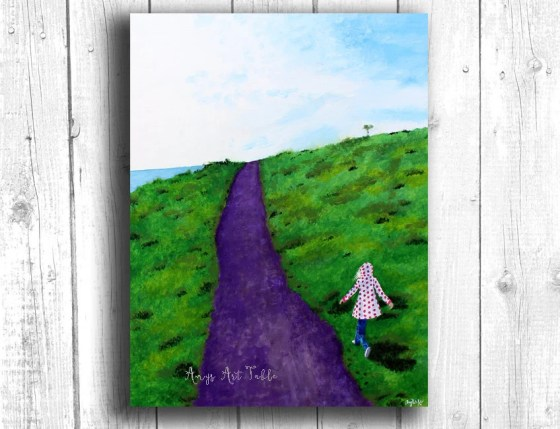 Girl Running Painting Dig...