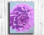 Purple Dahlia Painting Di...