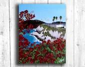 Coastal Flower painting, ...