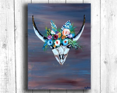 Skull and Flowers Digital...