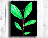 Tropical Leaf Painting Di...