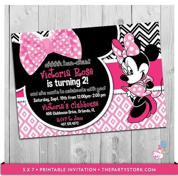 oh twodles birthday minnie invitation