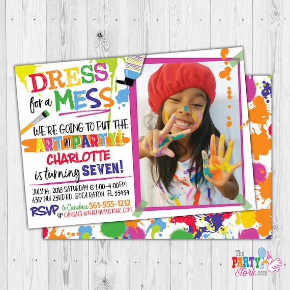 dress for a mess invitation art party