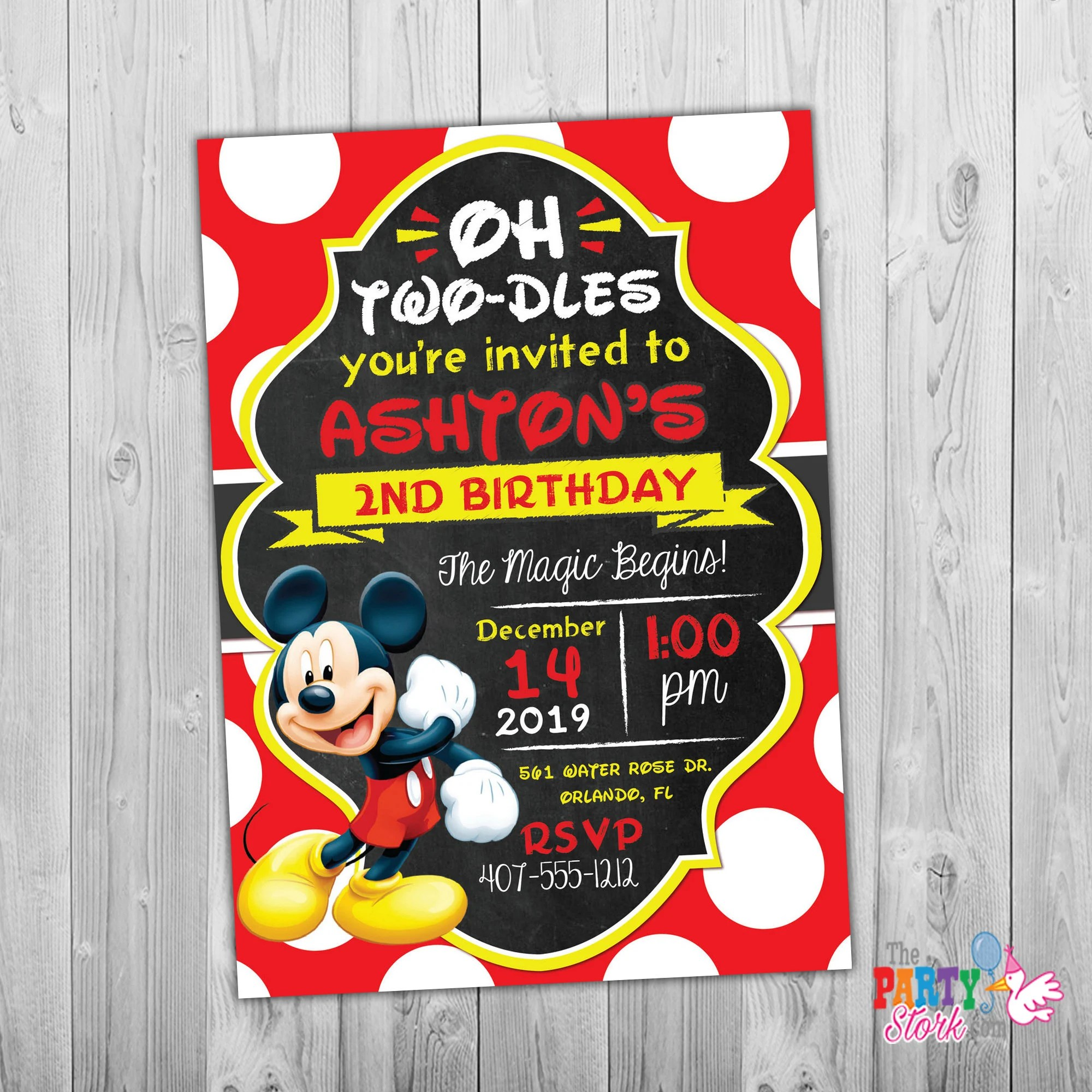 oh twodles invitation mickey mouse invitation oh twodles birthday mickey mouse birthday mickey invitation red 2nd birthday toodles digital