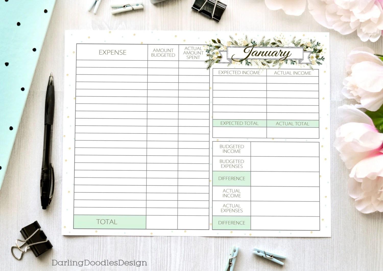 Set Of 12 Budget Worksheets Printable Budget Worksheet
