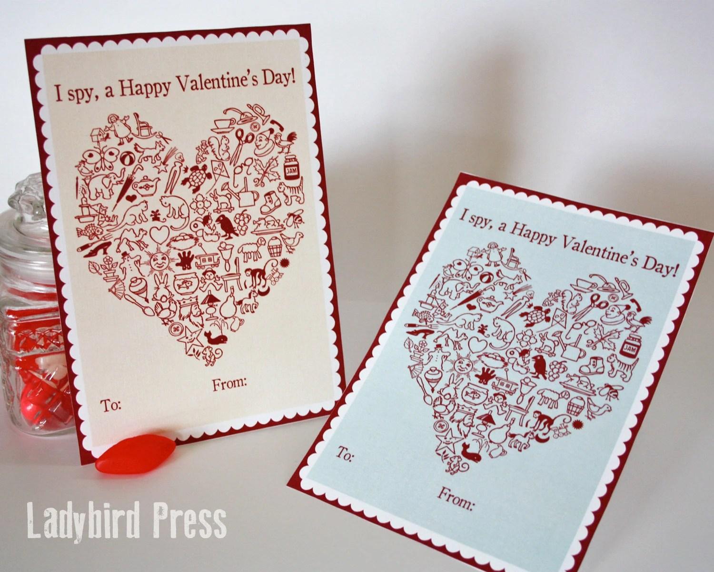 Printable I Spy Valentines Day Card I Spy Classroom