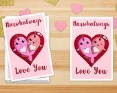 Narwhalways Love You Stickers, Funny Narwhal Stickers, Cute Narwhals Sticker, Heart Stickers, Valentine's Day Stickers