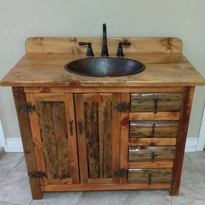 rustic bathroom vanity 42 rustic log vanity ms1371 42c bathroom vanity with sink bathroom vanities copper sink rustic bathroom