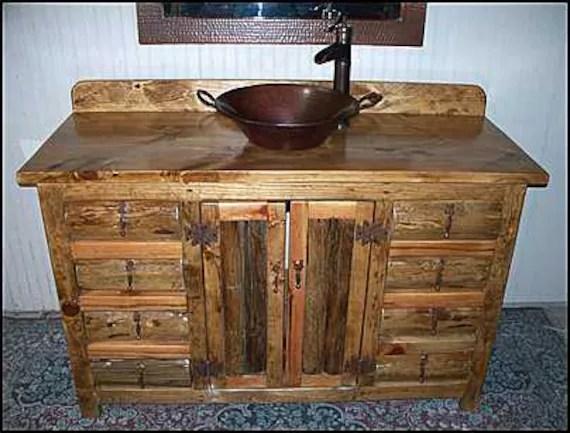 rustic log bathroom vanity 54