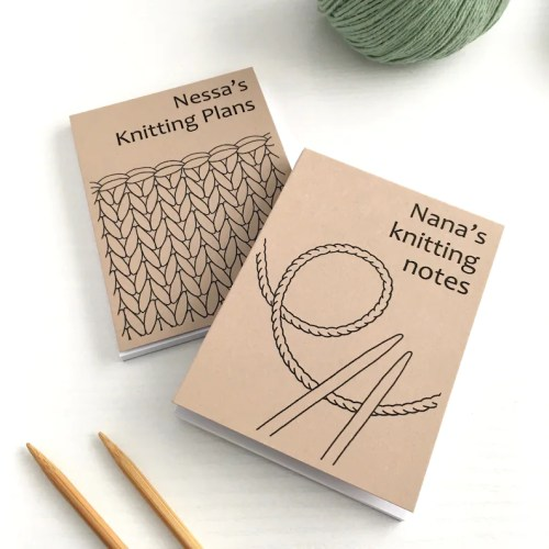 Personalised Notebook for Knitter / Knitting Notepad / image 0