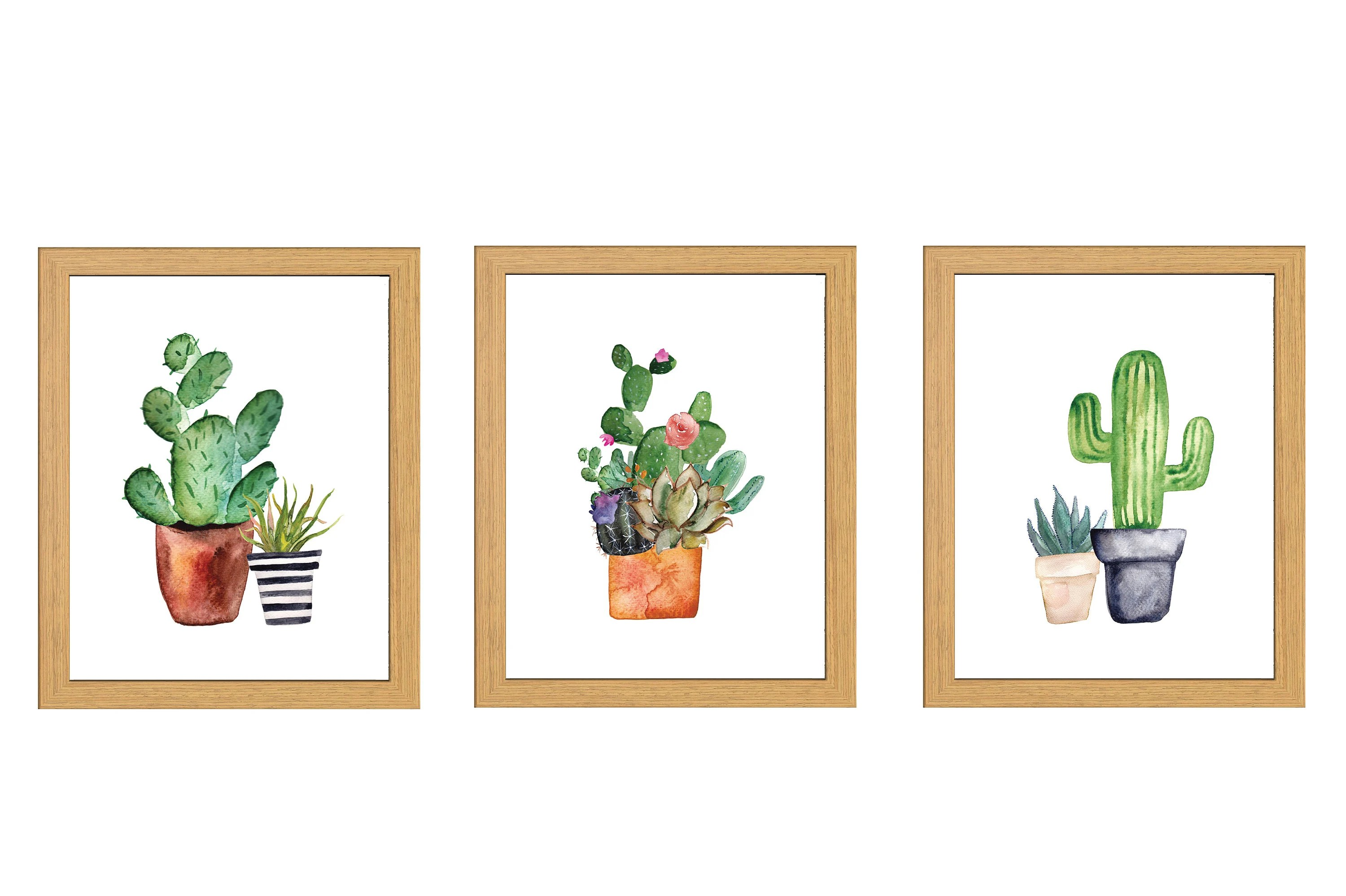 Set Of 3 Cactus Digital Printables