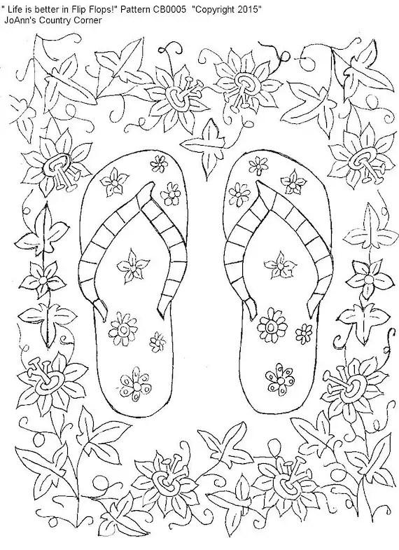 flip flop coloring page # 37