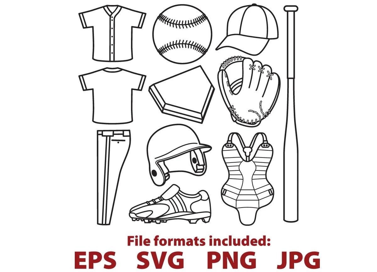 Baseball Clipart Baseball Digital Vector Svg Clip Art