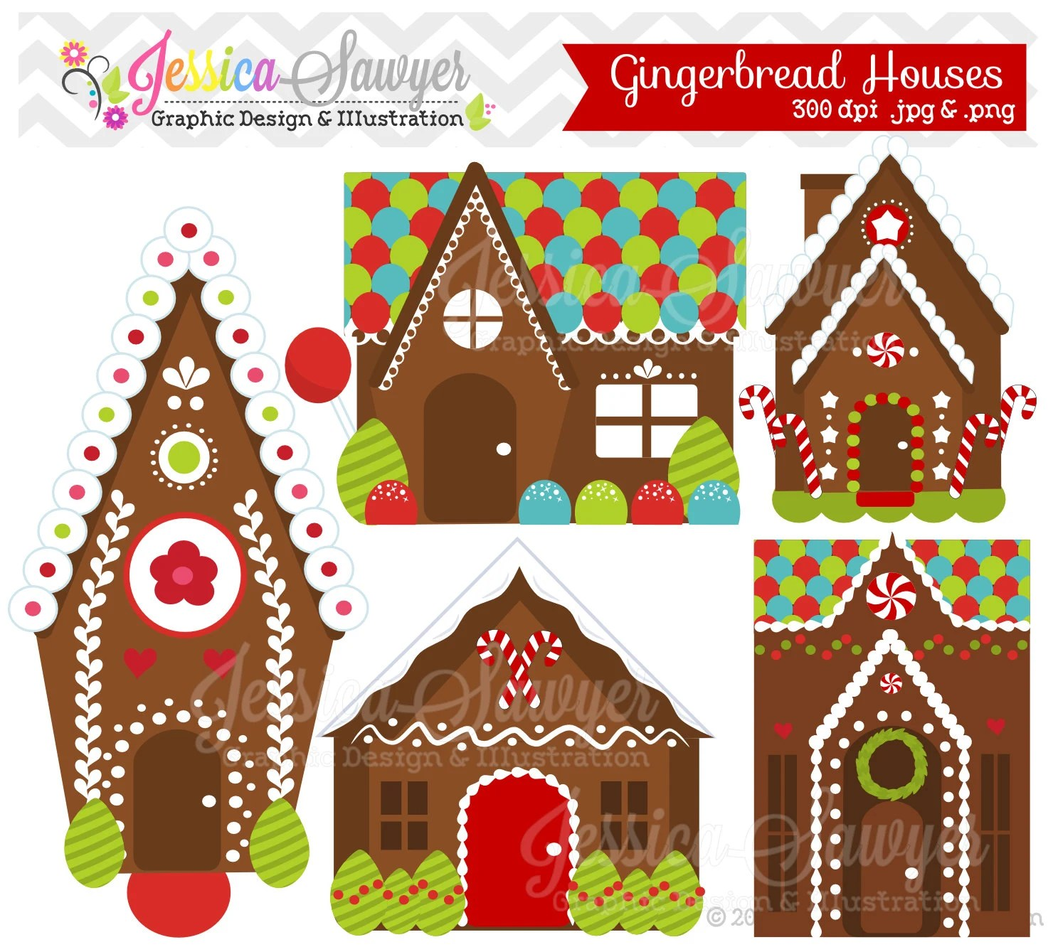 Instant Download Gingerbread House Clipart Or Gingerbread