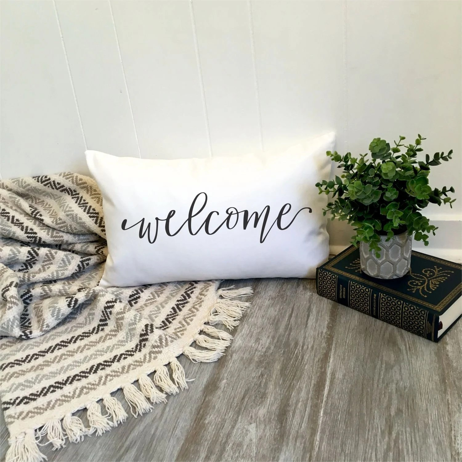welcome pillow etsy