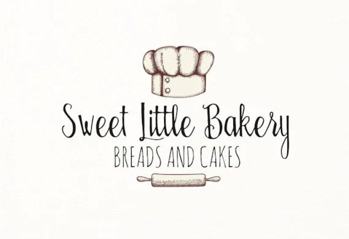 Bakery Logo Baking Bake Cooking Hand Drawn Sketch Logo Etsy