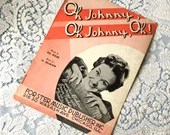 Vintage Antique 1917 Oh Johnny, Oh Johnny, Oh! Sheet Music Words by Ed Rose Music by A Olman Bonnie Baker Photo Cover Art