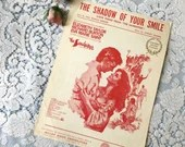Vintage 1965 The Shadow Of Your Smile Sheet Music Photo Cover Art Elizabeth Taylor Richard Burton From MGM movie The Sandpiper Love Story