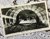 Vintage 1930s Black & White Photo Postcard Post Card RADIO CITY MUSIC Hall World's Largest Theatre New York