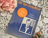 Vintage 1939 Oh You Crazy Moon Sheet Music 1930s Blue Orange Moon Al Donahue Photo Cover Art Lyric Johnny Burke Music Jimmy Van Heusen