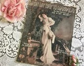 Antique Vintage 1913 I'm On My WAY TO MANDALAY Sheet Music 1910s Edwardian Woman Rose Garden Cover Art Words by Al Bryan Music Fred Fisher