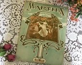 Antique Vintage 1918 Sheet Music MARTHA Fantasie Facile De Luxe Edition ART DECO Woodland Cover Art 1910s Arranged by Edouard Dorn Opus 39