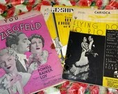 Vintage Lot of 12 Pieces of Sheet Music Great Collection Bundle Art Deco  1930s