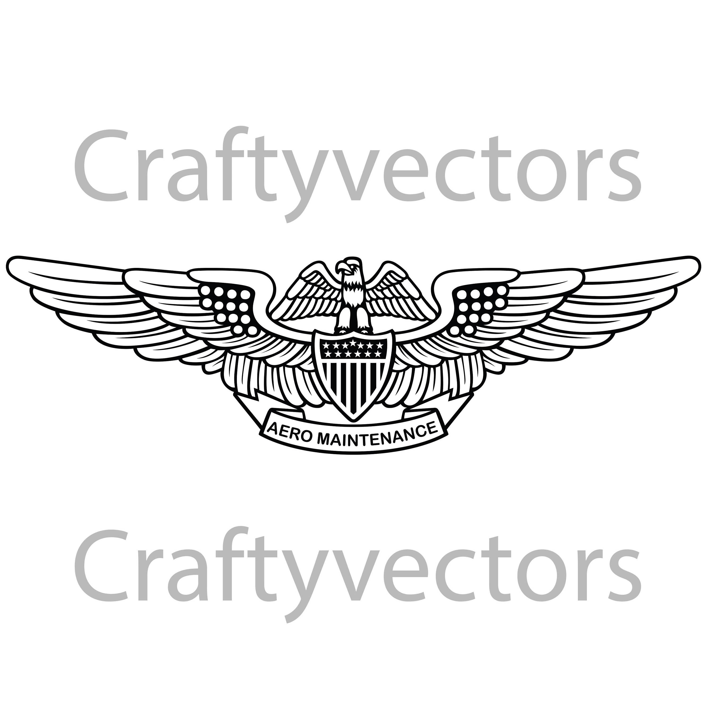 Navy Aviation Maintenance Officer Insignia Vector File