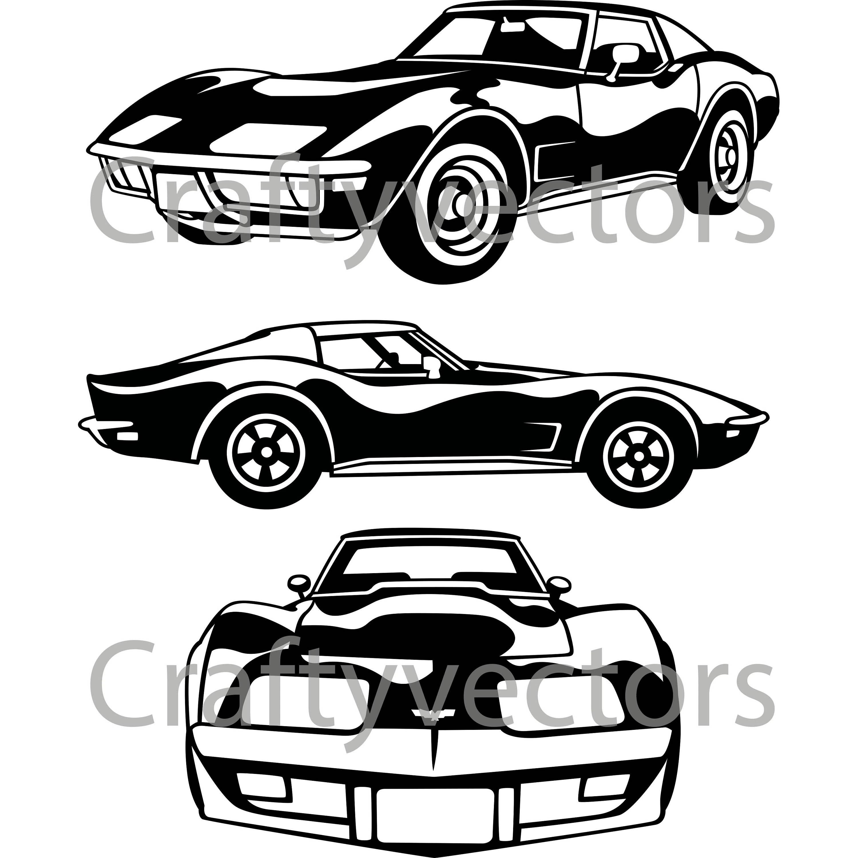 Chevrolet Corvette C3 Vector File