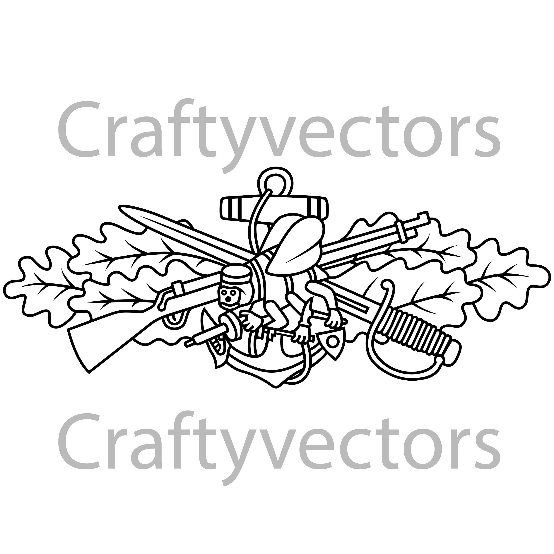 Seabee Combat Warfare Vector File
