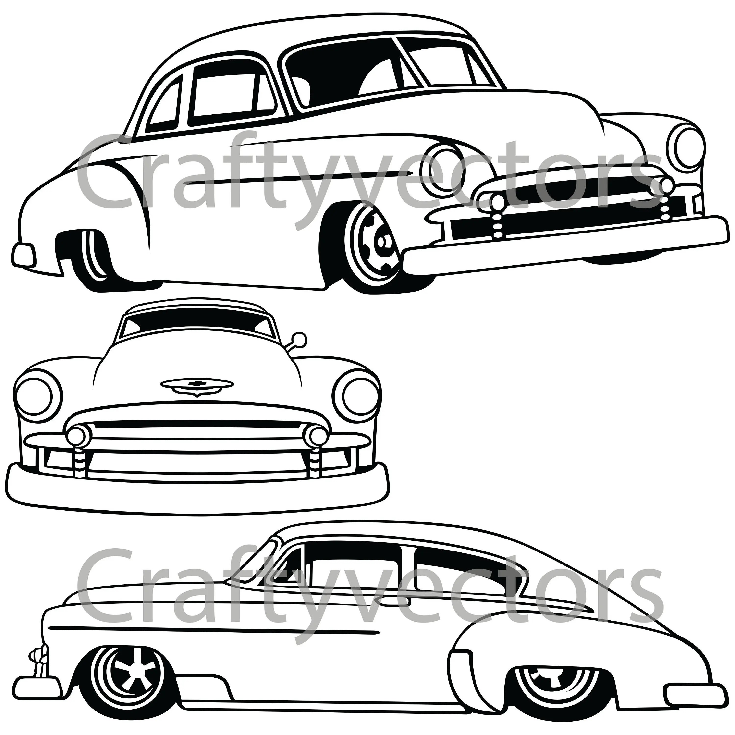 Chevrolet Fleetline Lowered Vector File