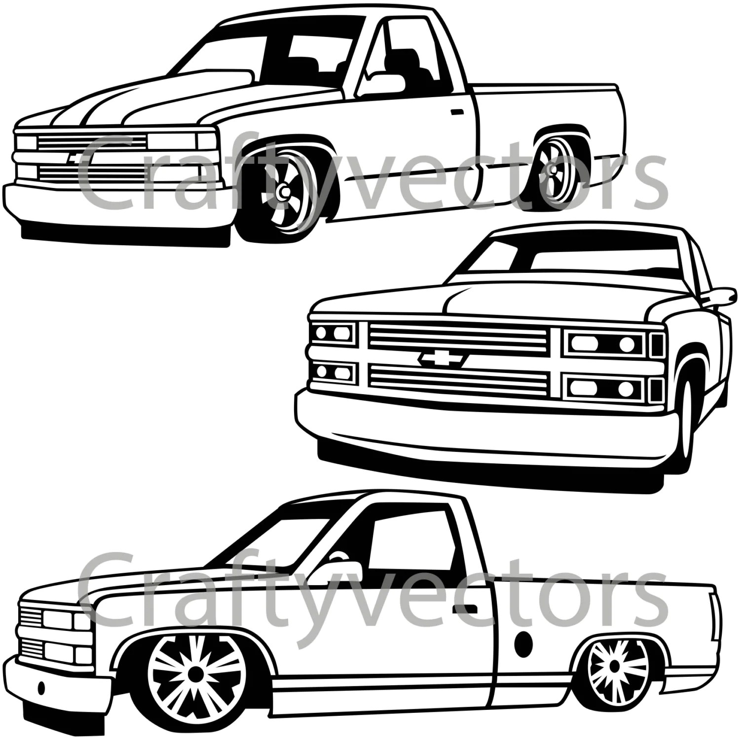 Chevy Lowered Custom Trucks
