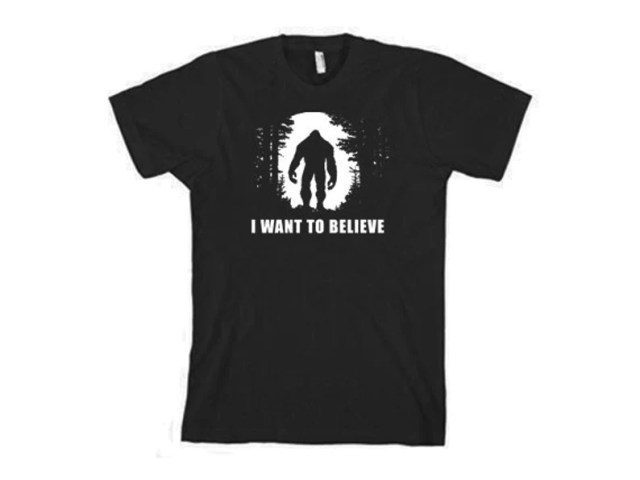 BIGFOOT TSHIRT I Want To Believe T-Shirt Funny Mens Kids image 1
