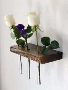 Floating Shelves Live Edge Shelf Floating Shelf Wood Wall Art Wood Home Decor Flower Vase Flower Shelf Home Decor Minimalist Decor