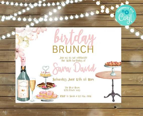birthday brunch invitation for her 30th