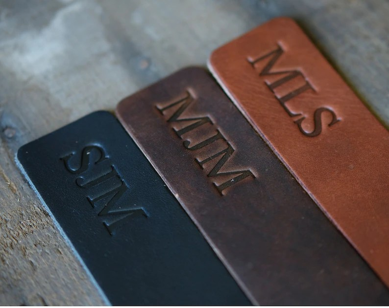 Personalized leather book mark leather bookmark gift for image 2
