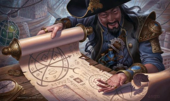 Merchant Scroll Print of Magic: The Gathering Illustration by   Etsy