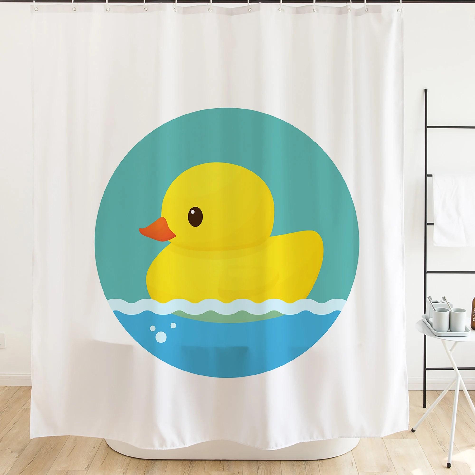 duck shower curtain etsy