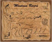 RIVER MAP POSTERS - Custo...