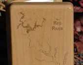 RED RIVER Map Fly Box - P...