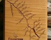 FRYINGPAN RIVER MAP Plaqu...
